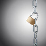 chains and padlock Stock Images
