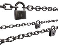 Chains and padlocks Royalty Free Stock Photo