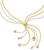 Chains with pearls Royalty Free Stock Image