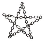 Chains pentagram Royalty Free Stock Images