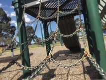 Chains at playground royalty free stock images