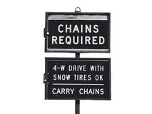 Chains Required Stock Image