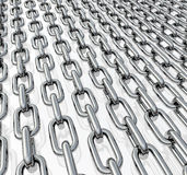 Chains in rows Royalty Free Stock Images