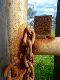 Chains & Rusty steel hardware 1 Stock Image