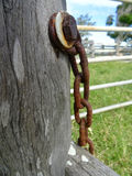 Chains & Rusty steel hardware 2 Royalty Free Stock Photo