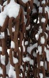 Chains and snow Stock Photos