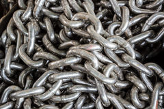 Chains tangled as a background Royalty Free Stock Photos