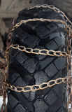 Chains on tyre Royalty Free Stock Image