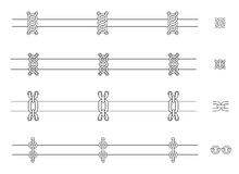 Chains web page dividers. Contour lines Stock Photography