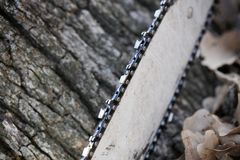 chainsaw Imagen de archivo libre de regalías
