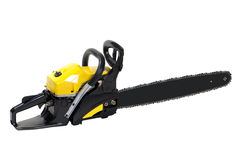 Chainsaw. Isolated over white background stock photography