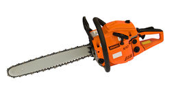 Chainsaw. Isolated on white background stock images