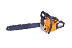 Chainsaw. Isolated on the white background stock image
