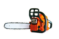 Chainsaw. Professional petrol chain saw stock photo