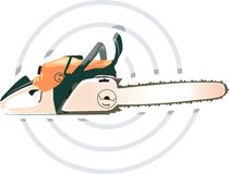 Chainsaw. Vector illustration of Orange colure Stock Photos