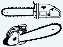 chainsaw vektor illustrationer