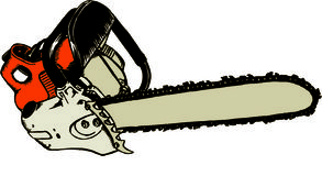 Chainsaw. Illustration of chainsaw Stock Photo