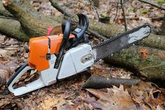 chainsaw Fotografia Royalty Free