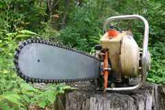 chainsaw Royaltyfri Fotografi