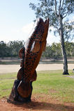Chainsaw Art. Royalty Free Stock Image