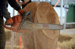 Chainsaw art Royalty Free Stock Image