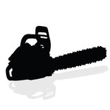 Chainsaw black vector silhouette Royalty Free Stock Images