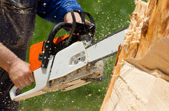 Chainsaw blade Royalty Free Stock Images