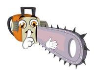 Chainsaw cartoon Stock Photography