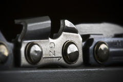 Chainsaw Chain Detail royalty free stock photography