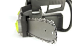 Chainsaw close up. Stock Photos
