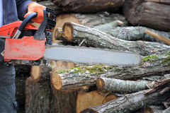 Chainsaw stock photos