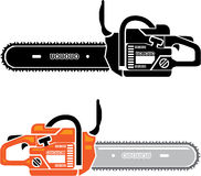 Chainsaw illustration Stock Photography