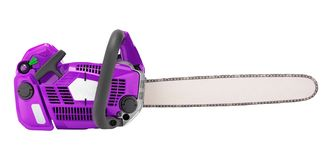 Chainsaw isolated on white. Background stock image