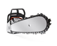 Chainsaw isolated on white Stock Photos