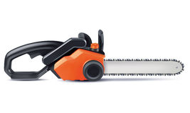 Chainsaw isolated on white. Royalty Free Stock Photos