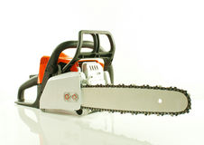 Chainsaw over white background Stock Image