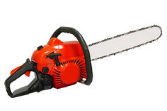 Chainsaw. Professional petrol chain saw royalty free stock photo