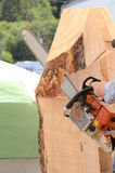 Chainsaw Sculpture Royalty Free Stock Image