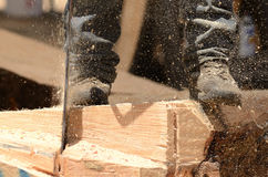 Chainsaw Sculpture Royalty Free Stock Images