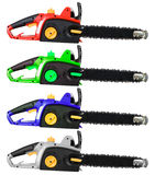 Chainsaw Set Isolated Royalty Free Stock Photo