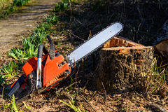 Chainsaw Stock Image