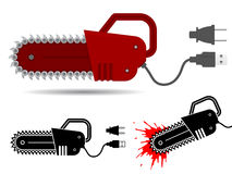 Chainsaw with usb and current cable Stock Photo