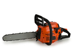 Chainsaw, on a white background. stock photography