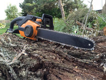Chainsaw work Royalty Free Stock Photo