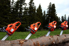 chainsaws Imagens de Stock Royalty Free