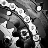 Chainset della bici fotografia stock libera da diritti
