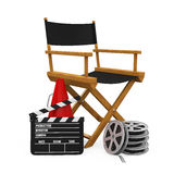 Chair主任和制片商设备 免版税库存照片