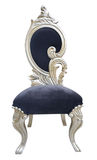 Chair. Old style blue chair with ornaments isolated on white Royalty Free Stock Image