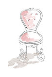 Chair. This is an illustration of a chair, drawn in a sketch and marker like style Royalty Free Stock Image