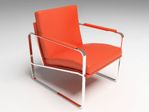 Chair. 3D render. modern interior. red chair stock photos